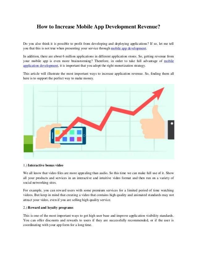 how to increase mobile app development revenue?