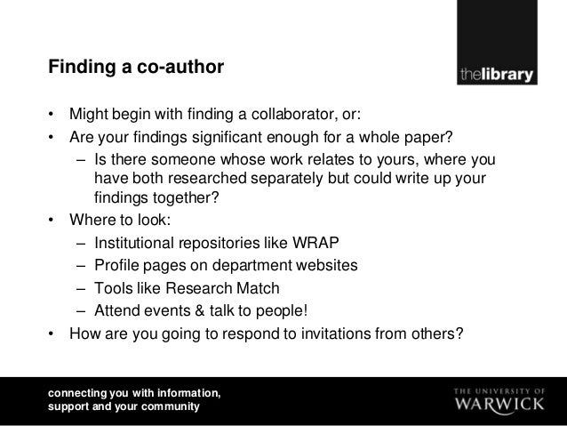 co author research paper