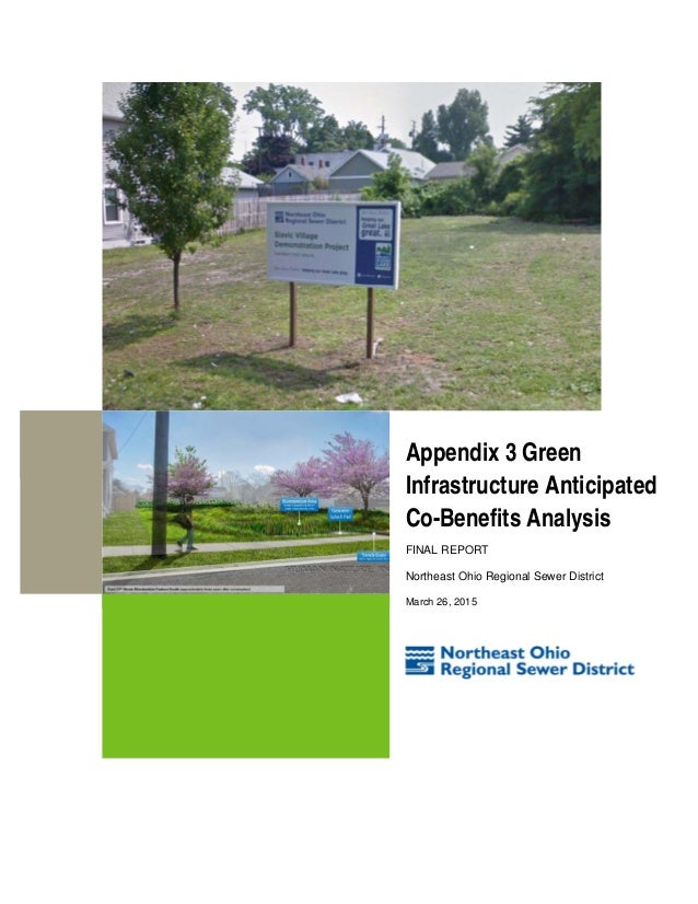 Appendix 3 Green Infrastructure Anticipated Co-Benefits Analysis FINAL REPORT Northeast Ohio Regional Sewer District March...