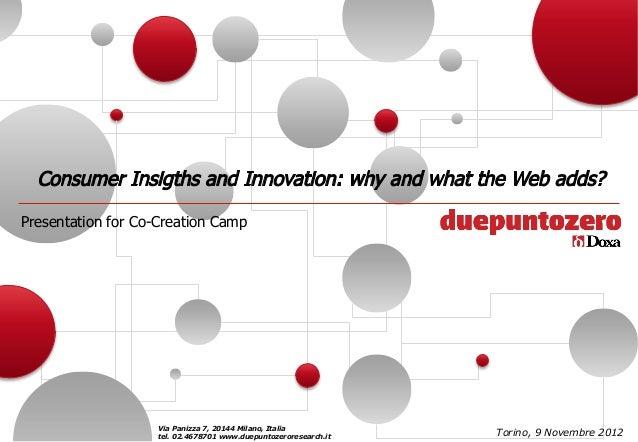 Presentation for Co-Creation Camp                    Via Panizza 7, 20144 Milano, Italia                    tel. 02.467870...