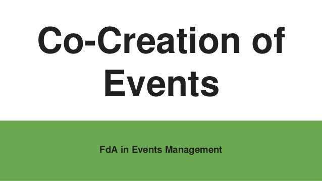 Co-Creation of Events FdA in Events Management