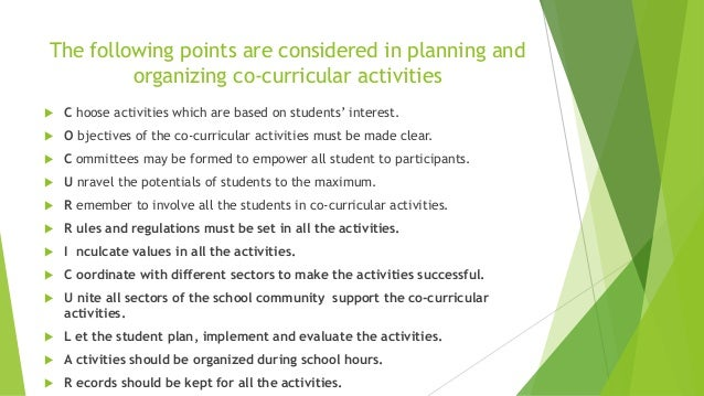 what are some co curricular activities