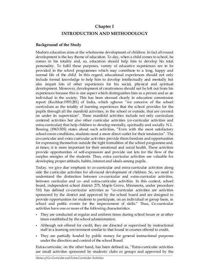 importance of co curricular activities in school essay