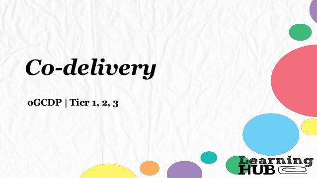 Co-delivery oGCDP | Tier 1, 2, 3