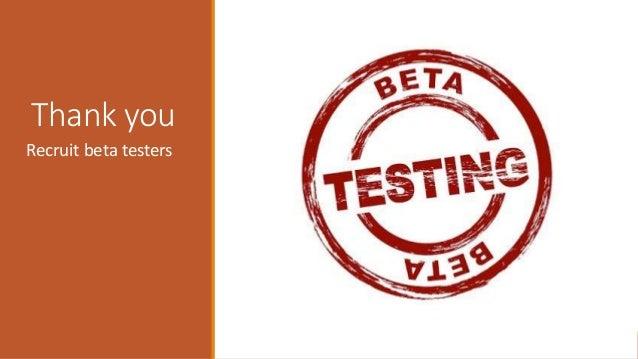 Thank you Recruit beta testers