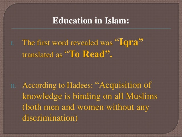 co education in islam Islam does not restrict believers to seek knowledge in fact it is  the topic is to  throw light whether to allow co education or not this is a.