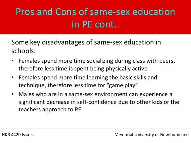 Benefit of single sex education