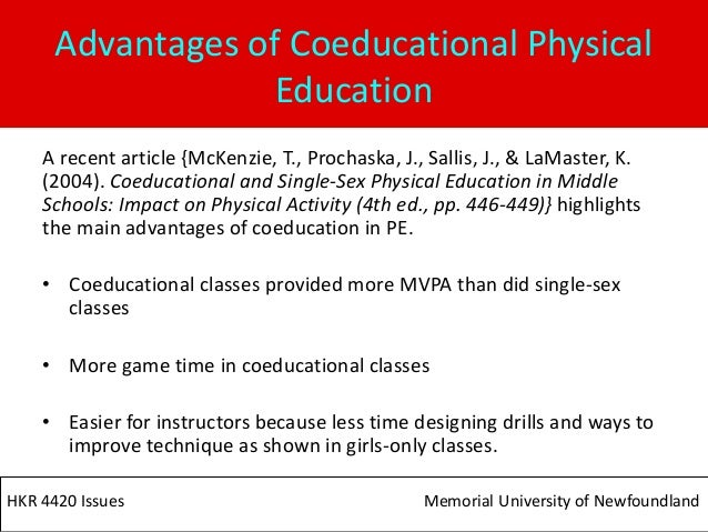 Single sex classes in physical education