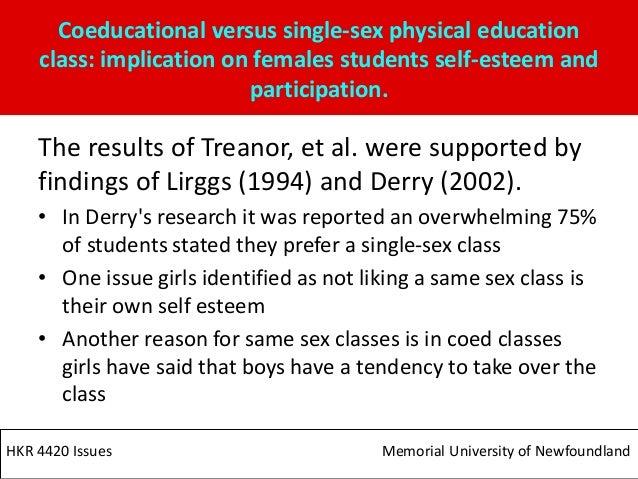 Same sex physical education