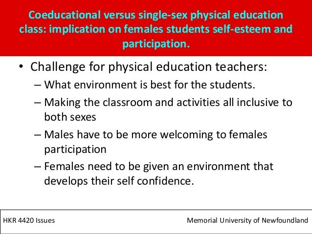 Single sex vs coed physical education