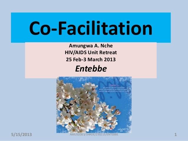 Co-FacilitationAmungwa A. NcheHIV/AIDS Unit Retreat25 Feb-3 March 2013Entebbe5/15/2013 1AMUSLIDES/SHADE/250213/ENTEBBE
