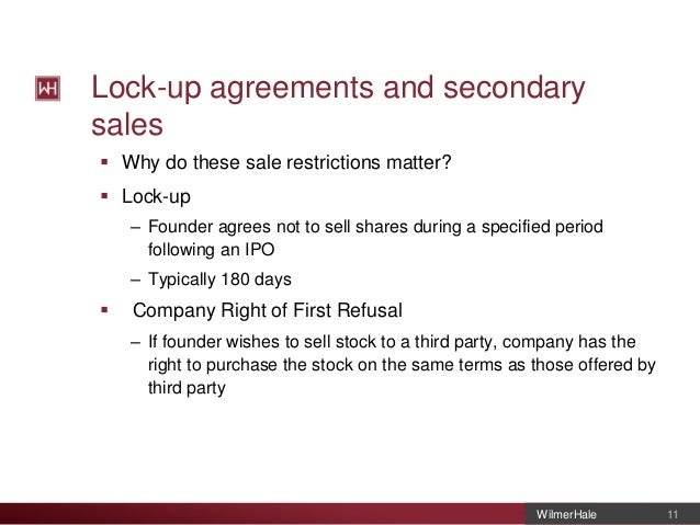 Finra ipo lack up agreements