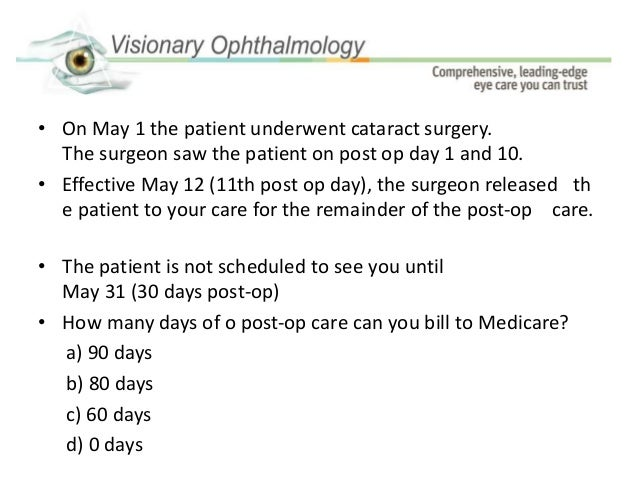 cataract post op instructions