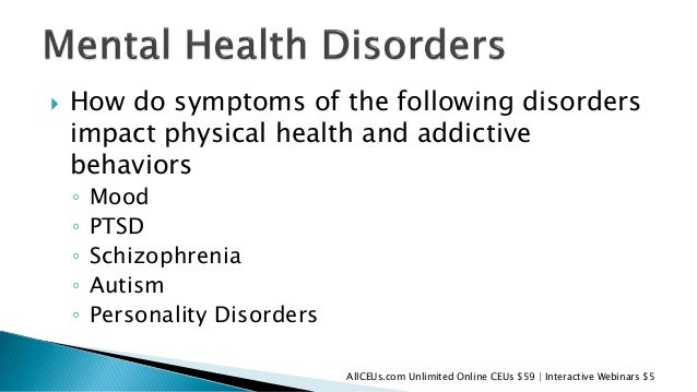 Substance Abuse and Mental Health Issues