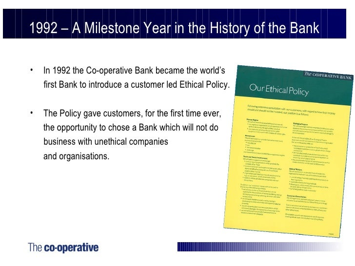 cooperative bank case Co-operative bank case solution, a british bank with strong roots in the cooperative movement meets declining profitability in an increasingly competitive and deregulated financial service.