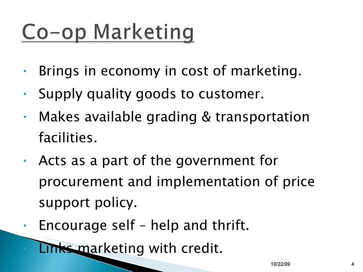 <ul><li>Brings in economy in cost of marketing. </li></ul><ul><li>Supply quality goods to customer. </li></ul><ul><li>Make...