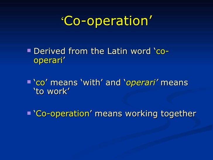 latin word for cooperation