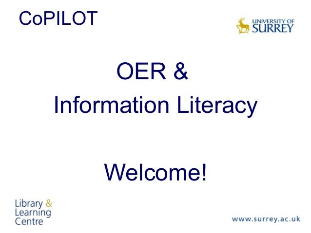 CoPILOT  OER & Information Literacy Welcome!