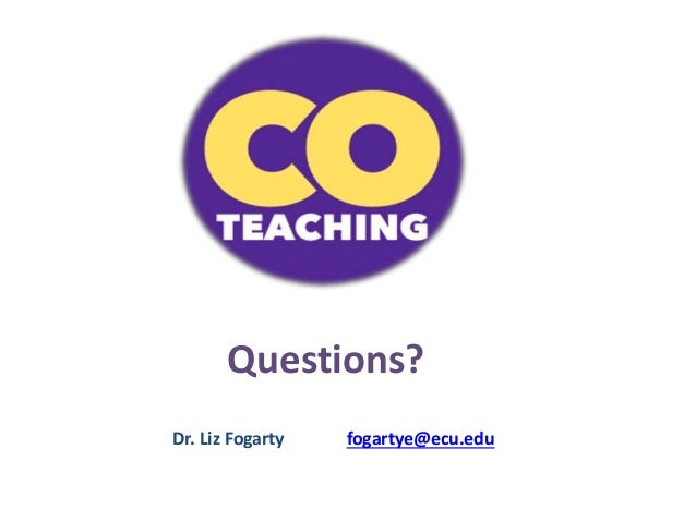 Collaborative Teaching Questionnaire : Not just gifted on thursdays increasing differentiation
