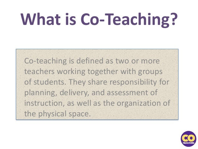 Collaborative Co Teaching : Not just gifted on thursdays increasing differentiation