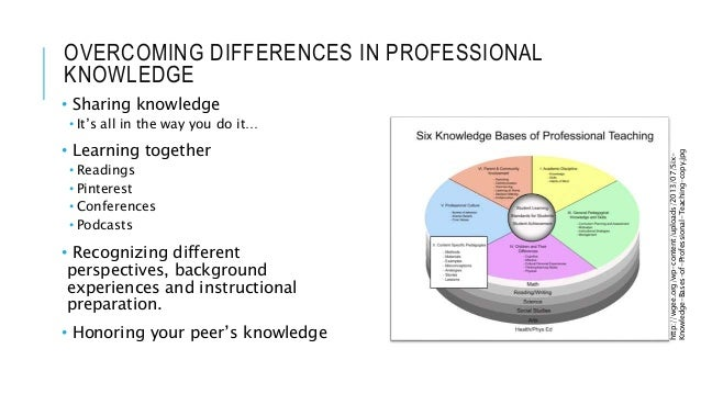 OVERCOMING DIFFERENCES IN PROFESSIONAL KNOWLEDGE • Sharing knowledge • It's all in the way you do it… • Learning together ...