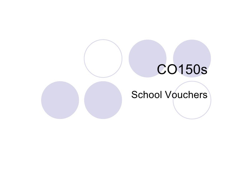 CO150s School Vouchers