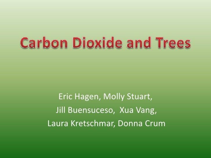 Eric Hagen, Molly Stuart,<br /> Jill Buensuceso, XuaVang,<br /> Laura Kretschmar, Donna Crum<br />Carbon Dioxide and Trees...
