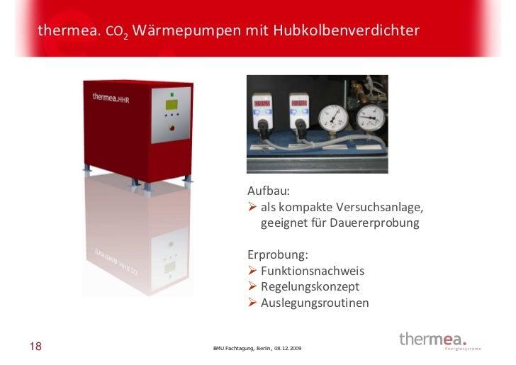thermea. CO2 Wärmepumpen mit Hubkolbenverdichter                                    Aufbau:                               ...