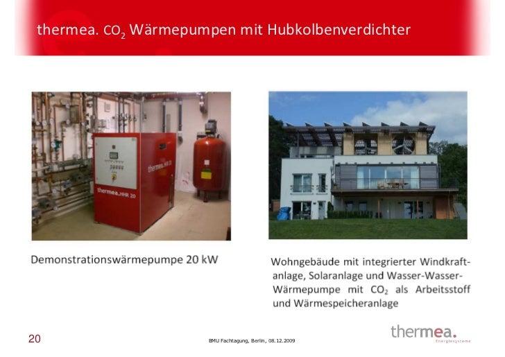 thermea. CO2 Wärmepumpen mit Hubkolbenverdichter20                     BMU Fachtagung, Berlin, 08.12.2009