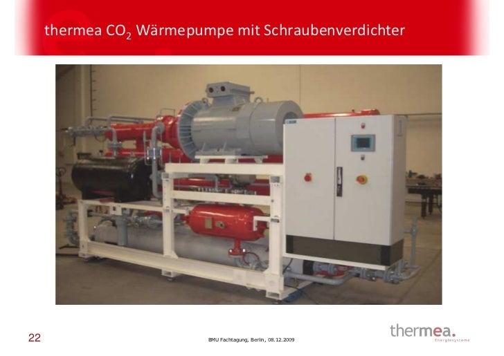thermea CO2 Wärmepumpe mit Schraubenverdichter22                       BMU Fachtagung, Berlin, 08.12.2009