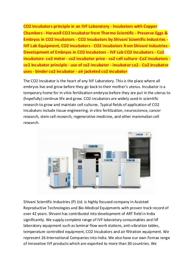 CO2 Incubators principle in an IVF Laboratory - Incubators with Copper Chambers - Heracell CO2 Incubator from Thermo Scien...
