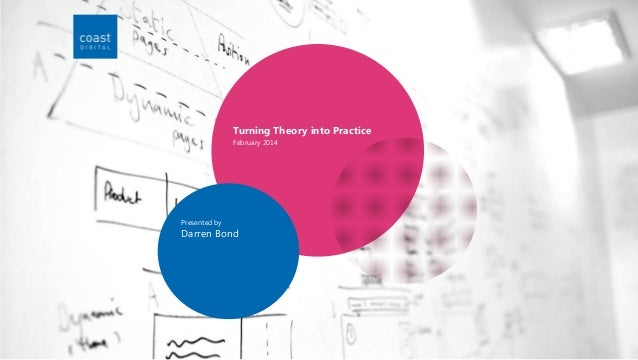 Turning Theory into Practice February 2014  Presented by  Darren Bond