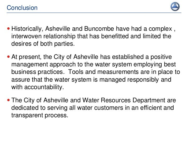 City Of Asheville Water Resources