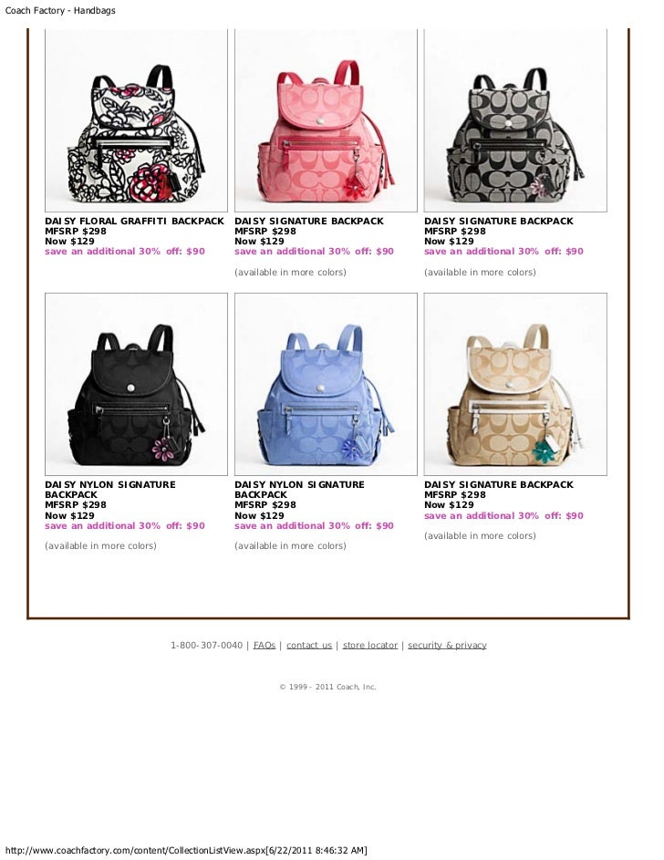 coach backpack purse outlet b19c  Coach Factory