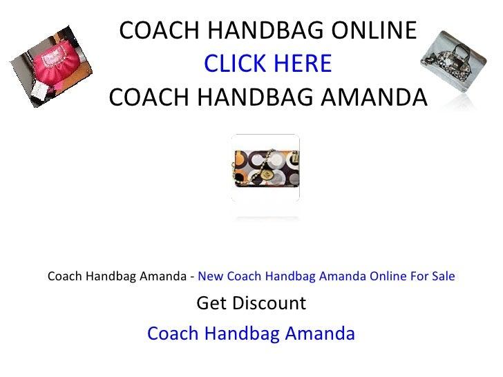 COACH HANDBAG ONLINE CLICK HERE COACH HANDBAG AMANDA Coach Handbag Amanda -  New Coach Handbag Amanda Online For Sale Get ...