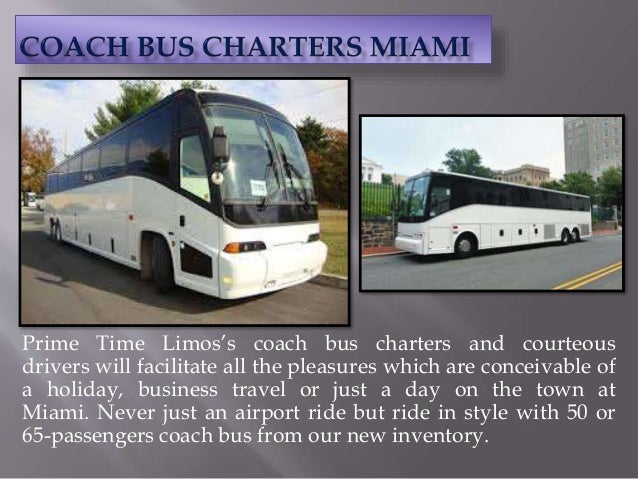 Prime Time Limos's coach bus charters and courteous drivers will facilitate all the pleasures which are conceivable of a h...