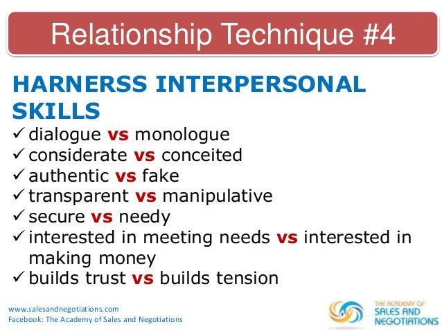 relationship selling skills