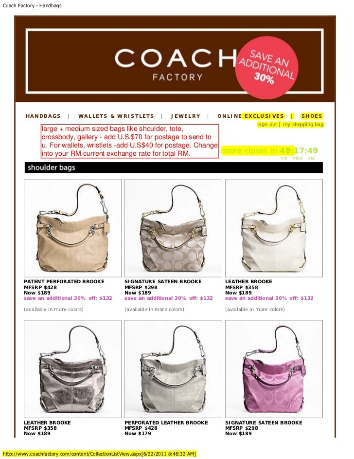 a8d231730f2c Coach U.S. Factory Outlet 70% Big Sale for Hari Raya 2011