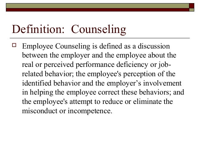 Coaching And Counseling – Employee Counseling Form