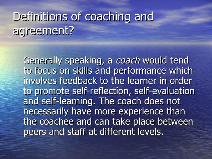 essay on coaching and mentoring Assignment #1 coaching and mentoring venn diagram and materials: as the new academic coach, the new principal on your campus is expecting you to support a coaching program for all teachers on the campus and he asked you to help him develop a coaching plan the first step is to help the principal.