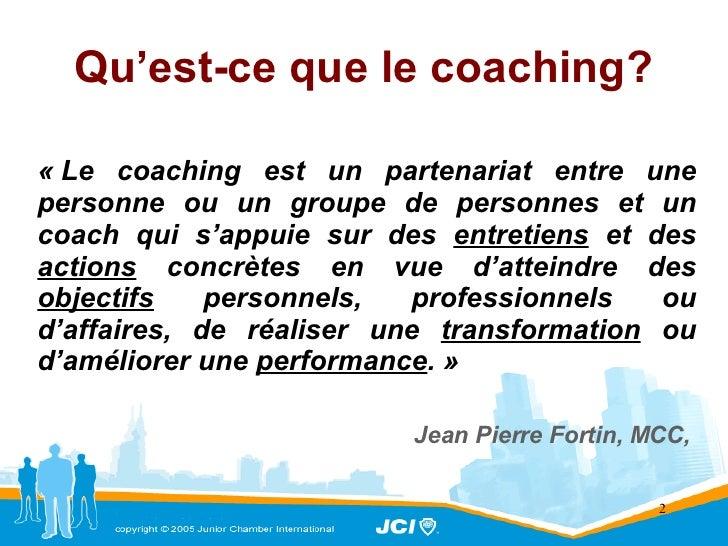 Le Coaching C'est Quoi Slide 2