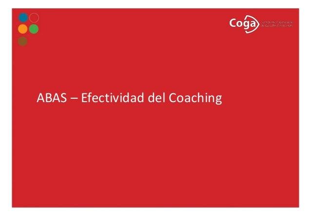ABAS – Efectividad del Coaching