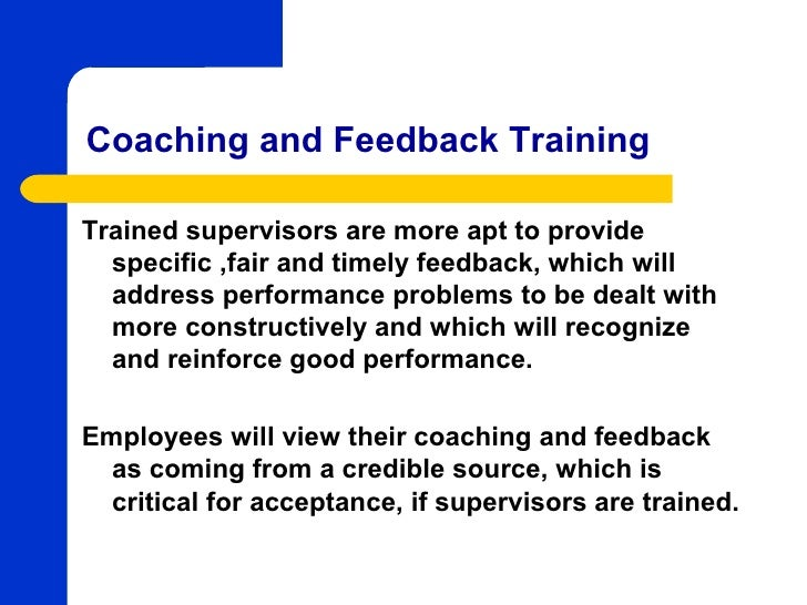 Ppt coaching and feedback powerpoint presentation id:2999727.