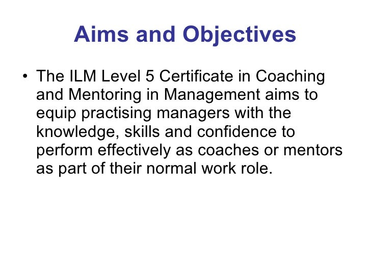 Aim and objectives for unit d nebosh diploma