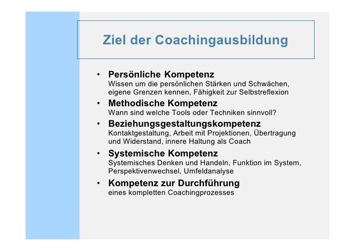 Coachingausbildung bbh 2010 Slide 2