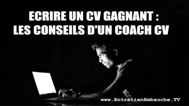 coaching cv    u00e9crire un cv gagnant  conseils et exemples d