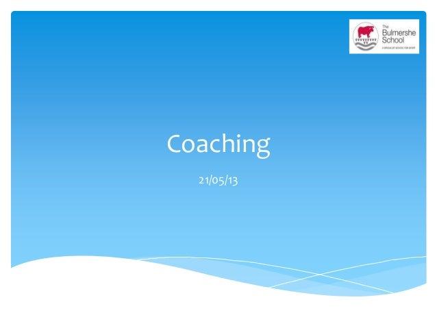 Coaching 21/05/13