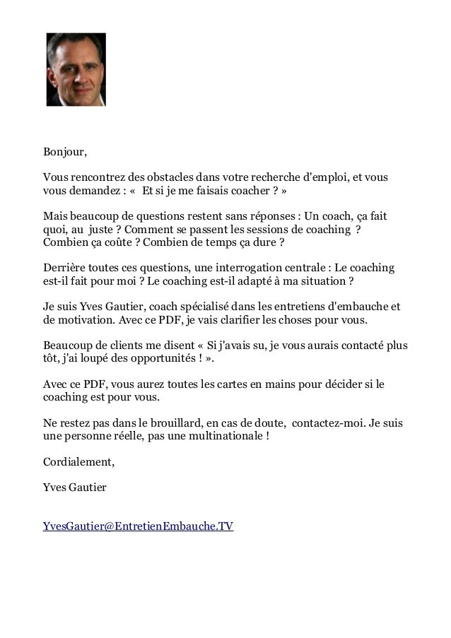 lettre de motivation yves gautier