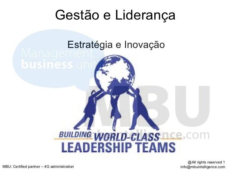 Gestão e Liderança                                      Estratégia e Inovação                                             ...