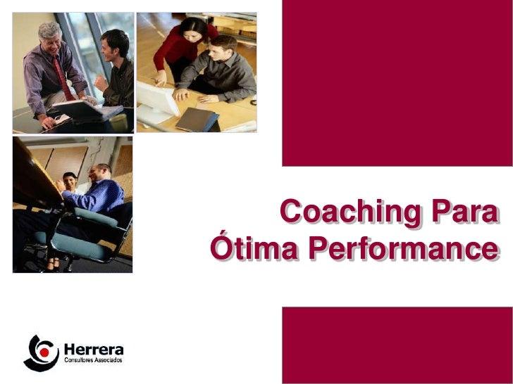 Coaching ParaÓtima Performance                1